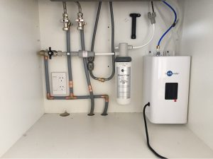 Under Bench Water Filtration Installation Orakei